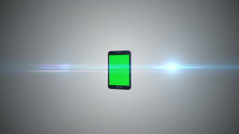 Animation Of A Chroma Key Screen Of A Smartphone Against Grey Background stock footage
