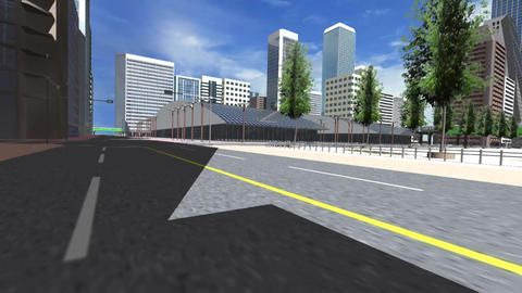 Sprint at a Virtual City Animation