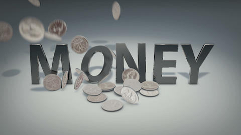 Metal Money stock footage