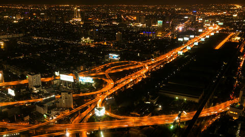 Timelapse - Highway From Above stock footage