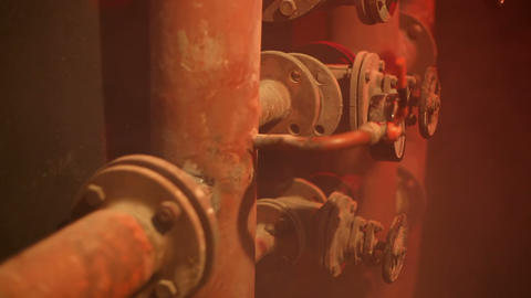 Pipeline With Smoke stock footage