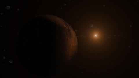 Planet And Sun stock footage