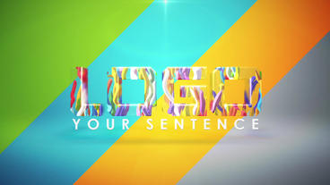3D Toonish Text/Logo Reveal stock footage