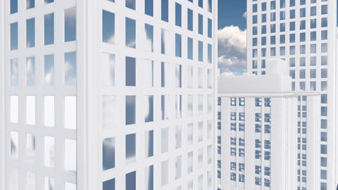 Abstract White High Rise Building Tilt Up stock footage