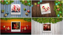Family Christmas Gallery stock footage