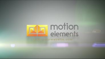 Floating Sand Particles Into Logo stock footage