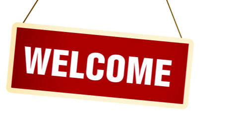 Welcome Banner stock footage