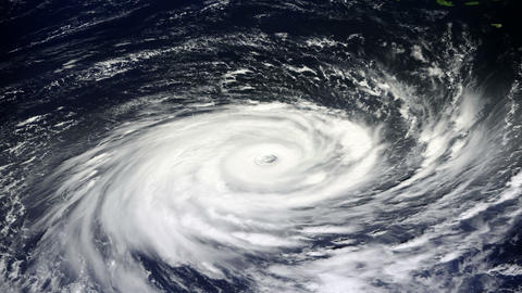 Typhoon, Satellite View stock footage