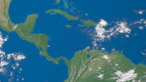Earth Zooms To Central America stock footage