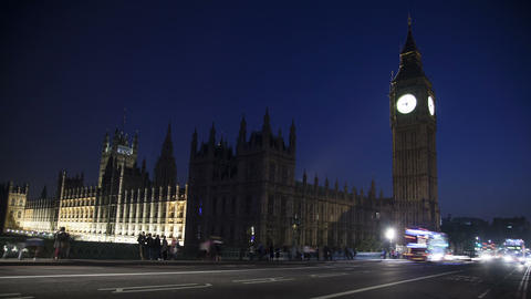 Traffic In Front Of Big Ben stock footage