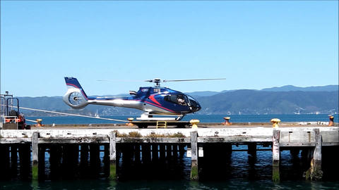 Tourist helicopter lift off Footage