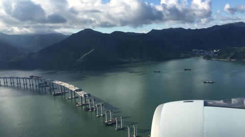 LANDING IN HONG KONG 4k Video # stock footage
