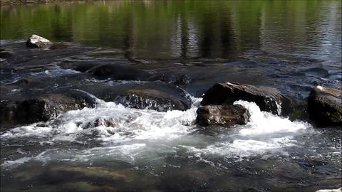 River Rapid Detail stock footage