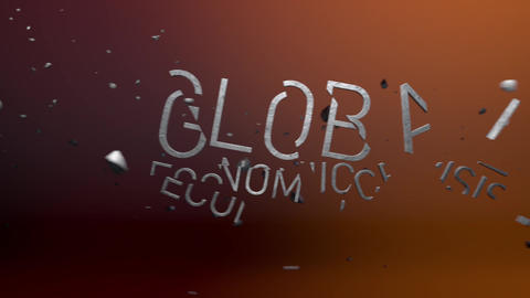 Global Economic Crisis stock footage