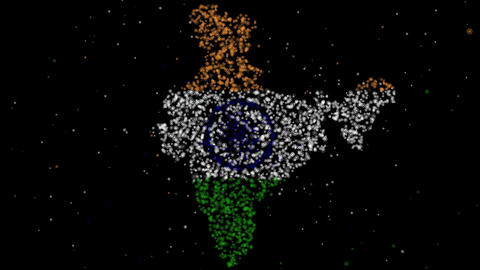 Map And Flag Of India stock footage