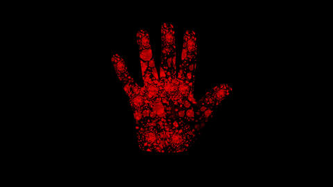 Futuristic Red Hand stock footage
