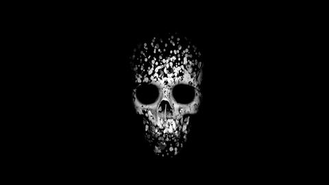 skull reveal from particles Footage