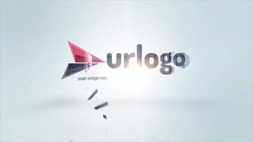 Simple Elegant Logo Animation stock footage