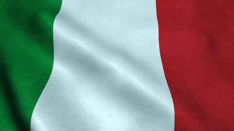 Realistic Ultra-HD Flag Of The Italy Waving In The Wind. Seamless Loop With High stock footage