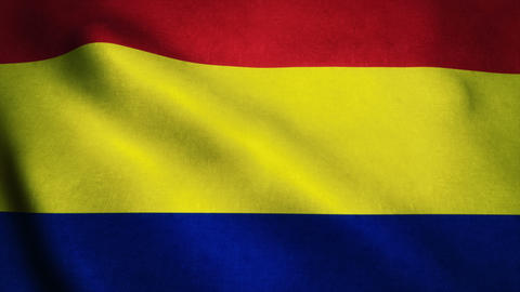 Realistic Ultra-HD Flag Of The Romania Waving In The Wind. Seamless Loop With Hi stock footage