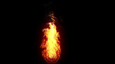 Burning Torch, Alpha stock footage