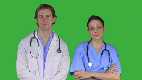 Two Stressed Doctors (Green Key) stock footage