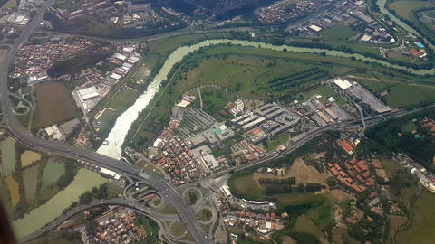 Rome June 2016 Italian Highway Junction Aerial View Before Landing To Ciampino A stock footage