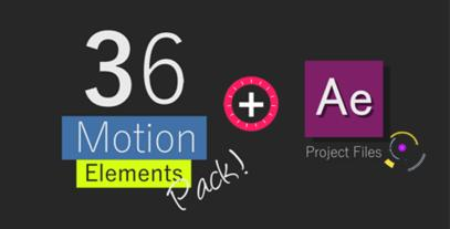 36 Motion Graphic Elements Pack With Project File stock footage