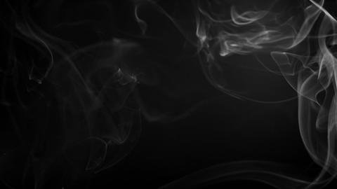 Smoke Fumes Against A Black Background stock footage