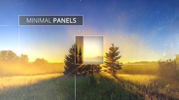 Minimal Panels Slideshow - After Effects Template stock footage