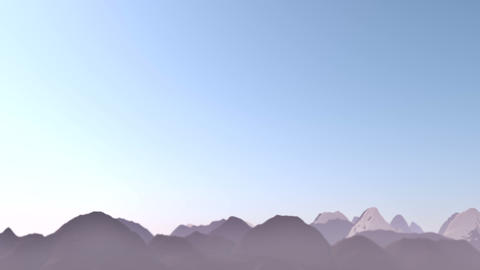 Mountains Landscape Animation stock footage