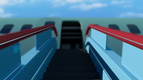 Plane Ladder Stairs Ramp stock footage