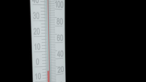 Thermometer Animation stock footage