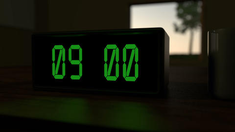 Alarm Clock at 9:00 a.m Animation