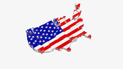USA Map Animation stock footage