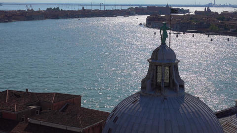 The dome of St Giorgios church in Venice Footage
