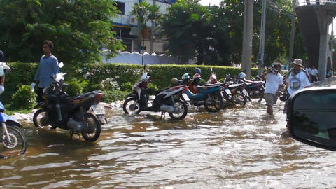 Thailand Floods stock footage