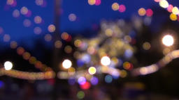 Abstract Holiday Bokeh Lights Background Footage