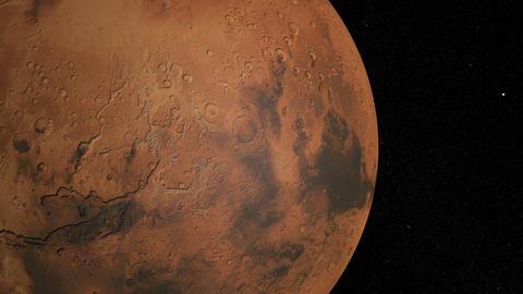Mars Against The Background Star Map. Globe Rotation stock footage