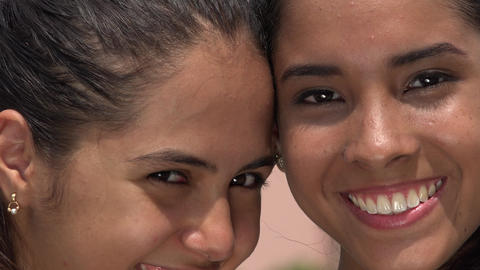 Friends Or Sisters Smiling stock footage