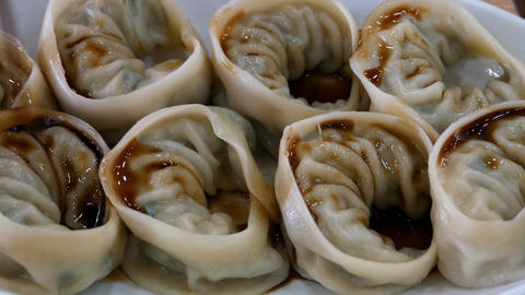 Asian Dumplings stock footage