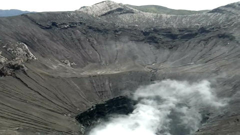 View Inside The Active Volcano Crater At Mt. Bromo, Tengger Semeru National Park stock footage