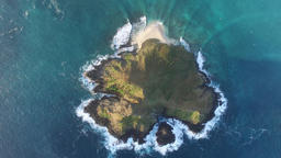 Kailua Mokes From Above - Island Suspension stock footage