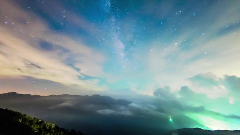 A Section From The Milky Way And The Andromeda Galaxy stock footage