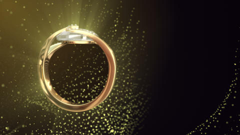 Diamond Ring Background 4K (Loop A) stock footage