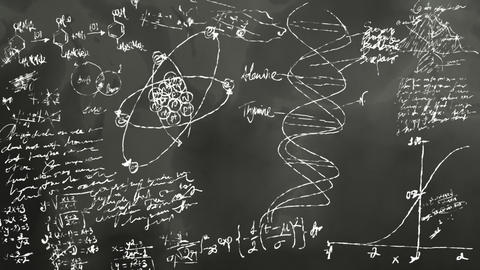 Math And Science Blackboard Scribbling stock footage