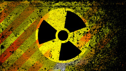 Radiation nuclear symbol on CG動画素材