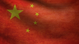 China Flag stock footage