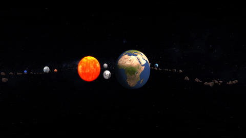 VR 360 Video Solar System This My Earth stock footage
