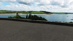 Panning View Over The River Camel Estuary In Cornwall On A Sunny Summers Day stock footage